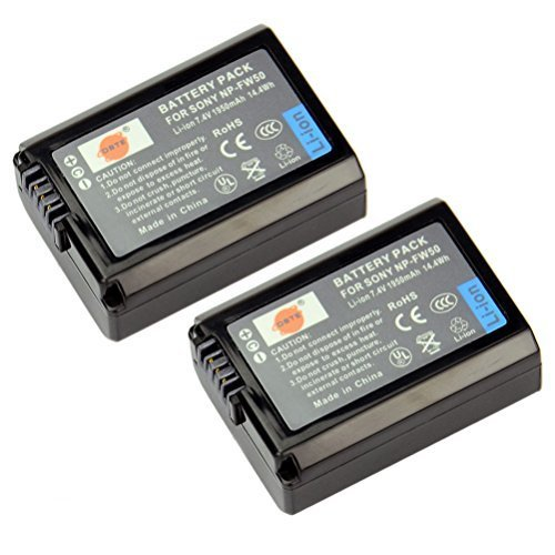 DSTE 2x NP-FW50 Replacement Li-ion Battery for Sony Alpha 7 7R 7R II 7S a7R a7S a7R II a5000 a5100 a6000 NEX-7 SLT-A37 DSC-RX10 Digital Camera  available at amazon for Rs.2874