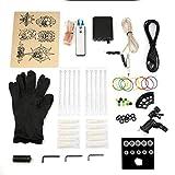 Black Dragonfly Tattoo Komplette Einsteiger-Tattoo-Kit Pro-Maschinentinten Netzteile Nadelgriffe Tipps Tatto-Zubehör