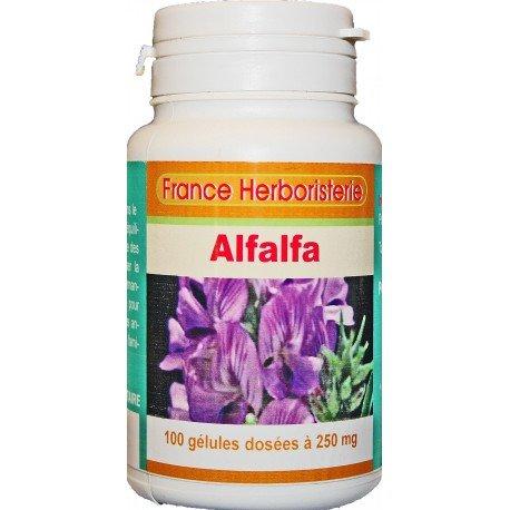 GELULES ALFALFA dosées à 250 mg 100 gélules.