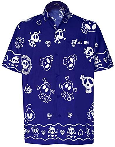 LA LEELA Herren Hemd Strandhemd Hawaiihemd Kurzarm Urlaub -
