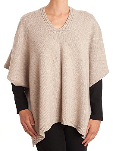 Dalle Piane Cashmere - Poncho two buttons cashmere blended yarns - Woman