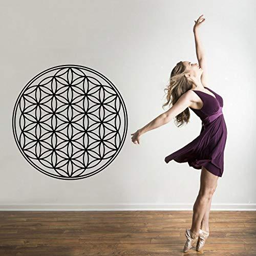 2019 neue gold aufkleber yoga vinyl wandtattoo wohnzimmer dekoration religion wandaufkleber wasserdichte tapete entfernbares wandbild lila m 30 cm x 30 cm -