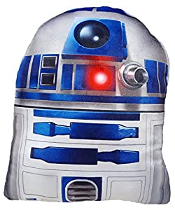 Daum - Pimp Up Your Life 15849 - Disney Star Wars Forma Cojín R2D2, Peluche, 19 cm