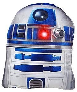 Daum - Pimp Up Your Life 15849-Disney Star Wars Forma Cojín R2D2, Peluche, 19cm