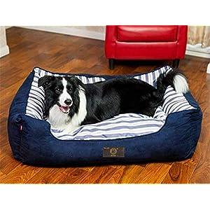 FVCDWSA Hundebett Pet Supplies Abnehmbare und waschbare Innenpolster kann umgekehrt Werden Vier Jahreszeiten Universal Bequeme Schlaf,XL