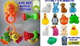 #7: TOY-STATION Baby Toys Combo (Baby Rattle/Teether & Chu Chu Toys)