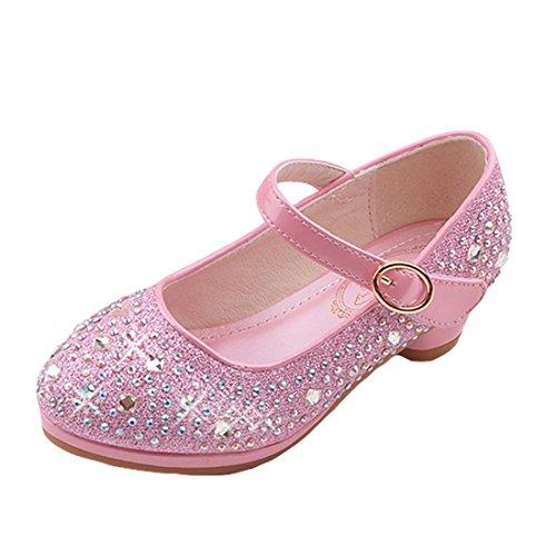 O&N Prinzessin Gelee Partei Absatz-Schuhe Sandalen für Kinder Glanz Prinzessin mit - Mädchen-partei