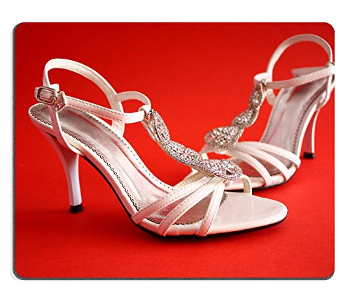 liili-mouse-pad-natural-rubber-mousepad-white-open-bridal-bejewelled-sandals-with-heells-on-red-back