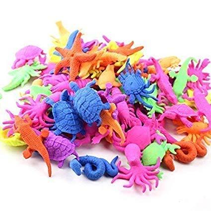 Weddecor Wasser Wachsend See Tier- Spielsachen, Ozean Life Lernen für Kind Bildungs, Wohnkultur, Kleinkind Geschenk, Verschiedene Farben, 24 Stk - See Tier