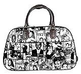 Große Handtasche, Reisetasche, Handgepäck, Kabinengröße, für Wochenendtrips, Trolley-Tasche, - Black - Hollywood Actor Actress Print - Größe: Einheitsgröße