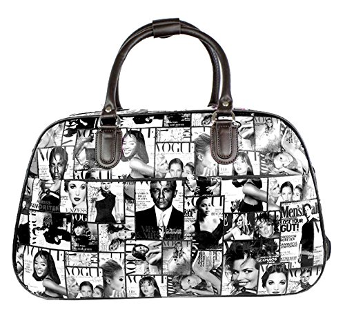 Big Handbag In volo Holiday Travel-Borsone per Weekend Borsa-Trolley bagaglio a mano Black - Hollywood Actor Actress Print