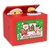 Samapete Rubare Babbo Natale salvadanaio Cents Automatici di Buon Natale Che afferrano Scatola Divertente di Risparmio dei Soldi