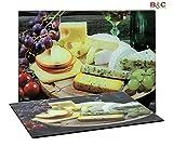 Slim Tablero de Cristal Templado Cheese–Tamaños Color cm 20x 30