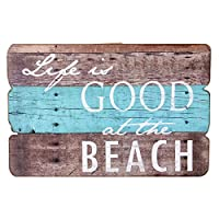 NIKKY HOME Life Is Good At The Beach Wooden Wall Decorative Plaque Sign 20 x 30.2 CM