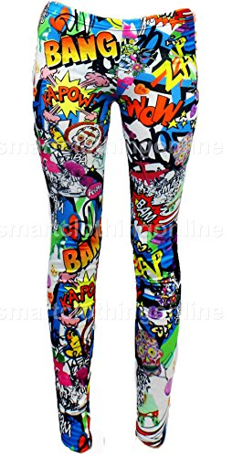 Womens Comic Book Print Leggings