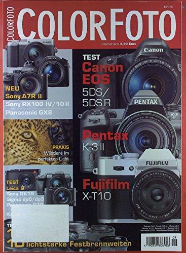 Colorfoto. HEFT 9/2015. INHALT: Neu: Panasonic GX8 - Vergleich: Leica Q Contra Sony RX1R...