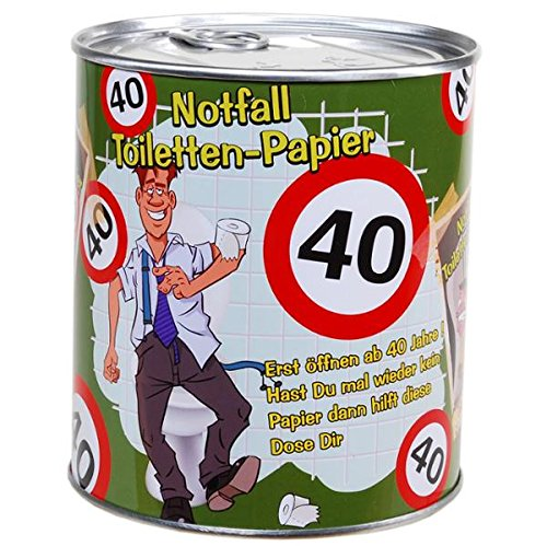 Notfall Toilettenpapier 40 Jahre Geschenk für den Geburtstag Klopapier