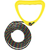 COM-FOUR® Schlittenleine aus strapazierfähigem Seil mit gelben, ergonomisch geformten Griff (Ersatzseil - 1 Stück)