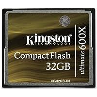 Kingston CF/32GB-U3 - Tarjeta de memoria CompactFlash Ultimate de 32 GB, 600x