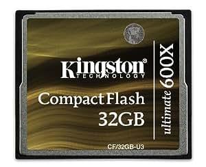 Kingston CF/32GB-U3 Ultimate 32 GB 600X Compact Flash Card, Brown