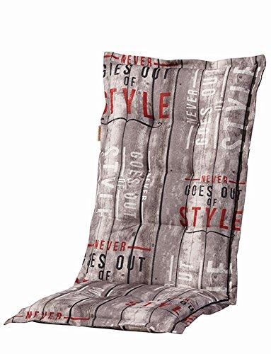 Madison 6 Stück Dessin Annabeth Sitzpolster für Klapppsessel, Stuhlauflage Hochlehner 75% Baumwolle, 25% Polyester, 123 x 50 x 8 cm