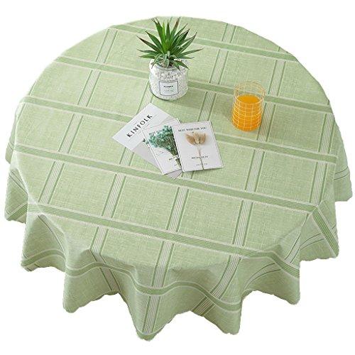 PVC Tischdecke Runde Tischdecke (Durchmesser 80 cm) Wasserdicht Anti-Hot Tisch Matten Tee Tisch Kunststoff Tischdecke (Farbe : Style 8)