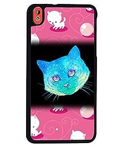 Fuson 2D Printed Cat Designer back case cover for HTC Desire 816 - D4523