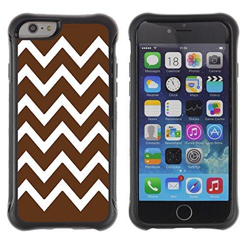Graphic4You Chevron Muster Shockproof Anti-Rutsch Weichen Hülle Case Tasche Schutzhülle für Apple iPhone 6 Plus / 6S Plus (Rosa) Brun
