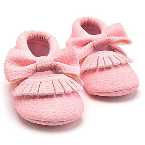 La Cabina Chaussures Bébé Fille garçon - Chaussures Souples Confortable -Chaussure Bébé Fille Premier Pas- Chaussures Antiglisse (0-18 mois ) (0-6 mois, or) rose