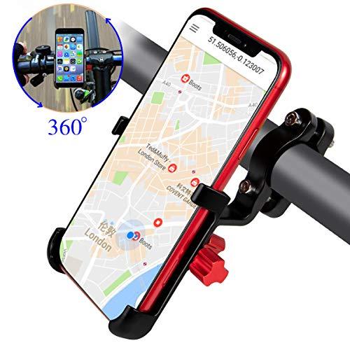 ENONEO Fahrrad Handyhalterung Universal Aluminium Motorrad Halterung Handy mit 360° Drehbar Anti-Fall Handyhalter Fahrrad für iPhone Samsung Huawei (Handy Breite 2.16-3.74
