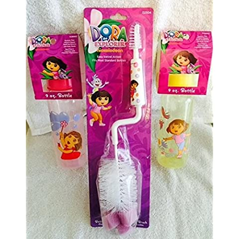 3 Pc, Licenza Infant-Bottle &-Set di pennelli, Dora Set)