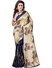 Tagline Women's Cotton Saree With Blouse Piece (Tag50034 ,Off White,Free Size)