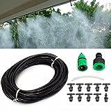 Ounona nebulizzatore da giardino micro irrigazione sistema di raffreddamento ad acqua spruzzatore ugello (nero)