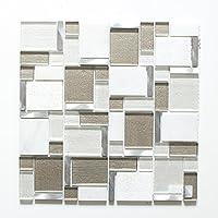 Fliesen Mosaik Mosaikfliese Travetin beige Mix Küche Bad WC 4mm Neu #620