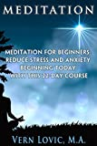 MEDITATION: Meditation for Beginners: Reduce Stress and Anxiety Beginning Today with this 22-Day Course