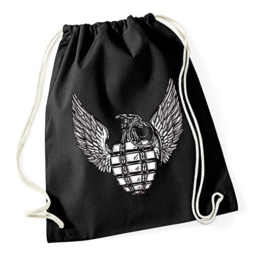 Wings Of Grenade Sac De Gym Noir Certified Freak