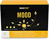 BRAINEFFECT MOOD | Pflanzlicher Stimmungsaufheller | 90 hochdosierte Kapseln | L-Tryptophan & Vitamin B6 + D3 | mehr Wohlbefinden und gegen Antriebslosigkeit | vegan