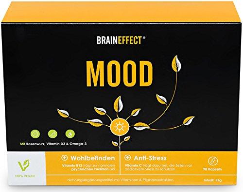BRAINEFFECT MOOD | Pflanzlicher Stimmungsaufheller mit B6 | L-Tryptophan & Vitamin D3 + B6 | mehr...