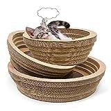 Sakuldes Katzenkratzbrett-gewelltes Katzen-Abfall-runder Katzen-Topf-Katzen-Spielzeug-haltbares Zupacken-Brett (Color : Cat Scratch Board, Size : L)