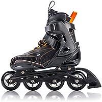 METEOR® HERO Pattini in Linea | Bambini | Donna | Inline Skates | Dimensioni 32-35 / 36-39 | ABEC 7, dimensione:M (36-39);Colore:black / orange