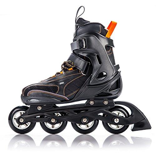 METEOR® HERO Inline Skates | Kinder | Damen | Größenverstellbar: 32-35 / 36-39 | ABEC 7