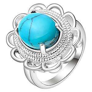can Convenient 925 Sterling Silber Damen & Mode Türkis Anhänger Halskette Ring Ohrringe Edelstein Schmuck Geschenke