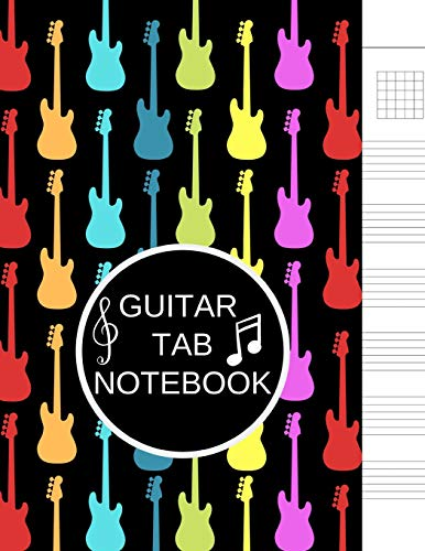 Guitar Tab Notebook: Blank Music Sheet Paper Journal - Guitar Chord, Standard Staff & Tablature