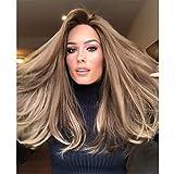 Mode Perücke Hochtemperaturseide Gradienten lange lockige Haare Dame