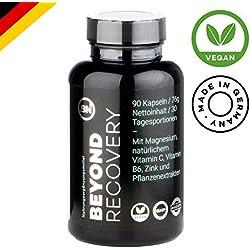 Natürliches Schlafmittel mit L-Tryptophan, Kamille, Ashwaghanda, Melisse, B6, B9, Magnesium | starke pflanzliche Formel ohne Chemie für mehr Tiefschlaf, Melatonin und Erholung | 90 Kapseln rezeptfrei