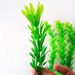 SLSON 4 Pack Aquarium Decorations Plants Green Artificial Plastic Water Plant for Fish Tank Decor,10 Inch Tall 9