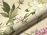 Möbelstoff FARNESINA Blumenmuster Farbe Multicolor als robuster Bezugsstoff, Polsterstoff Multicolor geblümt zum Nähen und Beziehen, Baumwolle, Polyester