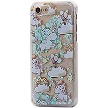 iPhone 6/6S Funda, Hamyi Brillante Estrella 3d Dinámico Líquido Quicksand Carcasa Rígida de Plástico Transparente para Apple iPhone 6 y iPhone 6S (Unicornio Amor)