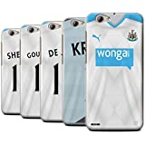 Offiziell Newcastle United FC Hülle / Case für HTC One A9s / Pack 29pcs Muster / NUFC Trikot Away 15/16 Kollektion