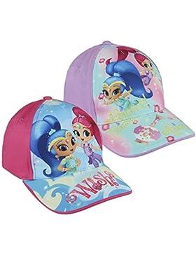 Pack 2 gorras de tela adaptables 2 diseños diferentes Shimmer & Shine (Nickelodeon) rosa y fucsia